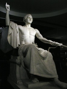 03. Corpo imperiale, scandaloso, ridicolo – nudo? Horatio Greenough, Statue of Washington (1841). National Museum of American History, Washington, D.C.
